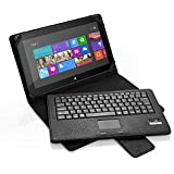 Poweradd Wireless Bluetooth Keyboard With Touch Pad With PU Leather Stand Case Cover For Microsoft Surface Pro...