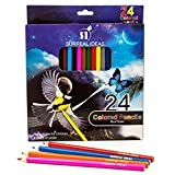 Colored Pencils For Drawing And Sketching. Set Of 24 Bright, Bold Pencil Colors From Surreal Ideas. Artists Of...