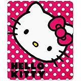 Hello Kitty Polka Dot Fleece Throw Blanket