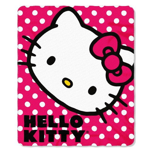 Find Discount Hello Kitty Polka Dot Fleece Throw Blanket 50'' x 60''