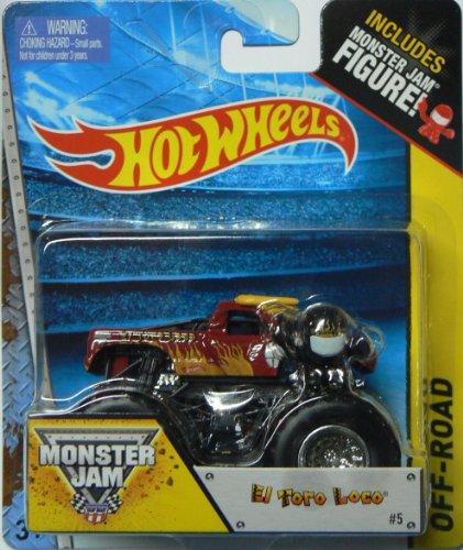 Hot Wheels Monster Jam #5 Off-Road El Toro Loco Includes Monster Jam Figure - 1
