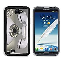 buy Msd Samsung Galaxy Note 2 Aluminum Plate Bumper Snap Case An Old White Vintage Style Telephone Sits Isolated On A Table In A Dark Room Image 24824838