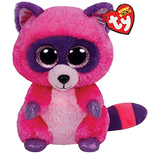 Ty Beanie Boos Roxie The Pink/Purple Raccoon Plush - 1