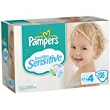 Pampers Swaddlers Sensitive Diapers Economy Pack Plus Size 4, 136 Count