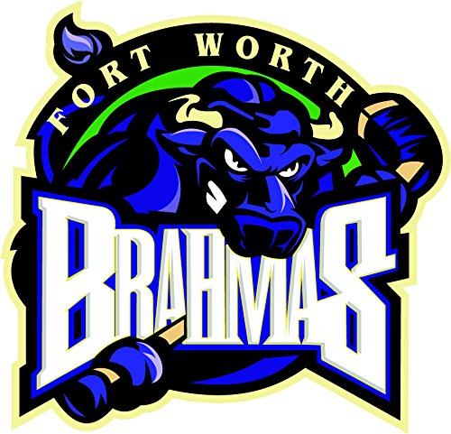 fort-worth-brahmas-hockey-logo-art-vinyl-sticker-home-decor-30-x-30-cm