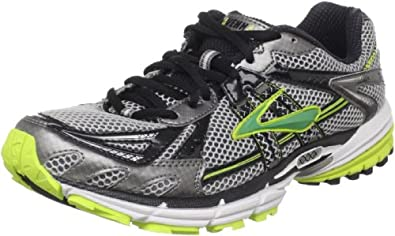 Brooks Men's Ravenna 2 Running Shoe,Metallic Pavement/Black/Lime/Punch/Metallic Green,15 D(M) US