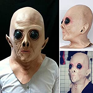UFO Latex Mask Cosplay Horror Ghost Head Science Fiction Movie Theme by firstar