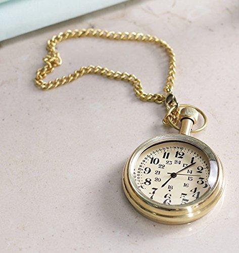Cas-creuse-rtro-chiffres-antiques-cadran-laiton-montre-de-poche-en-mtal-46-cm