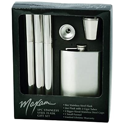 5pc Ss Flask Gift Set