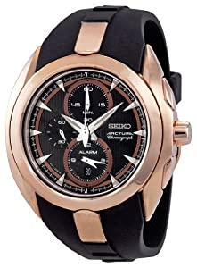 Buy Seiko Mens SNAD10 Chronograph Rose Gold Watch by Seiko