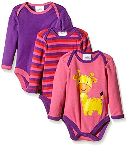 Twins - Body M, Langarm - 3er-Pack, Body da bimba, multicolore (mehrfarbig  (pink / lila 3202)), 18-24 mesi