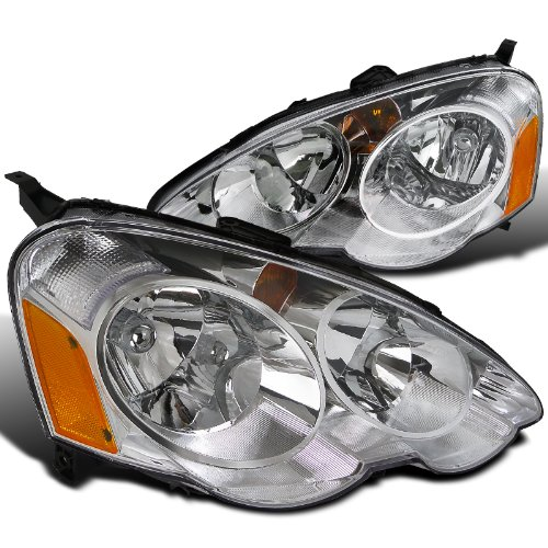 Spec-D Tuning 2LH-RSX02-RS Acura RSX JDM Chrome Diamond Headlights Left+Right (Rsx Type S Front Bumper compare prices)