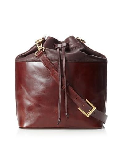 HAYVEN Women's Sammy Colorblock Drawstring Bag, Oxblood/Brandy, One Size