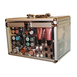 Shany Carry All Trunk Professional 48 pc. Makeup Kit, Gift Set,