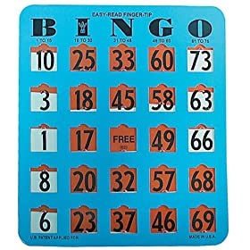 Easy Read Finger Tip Bingo Card (Blue)