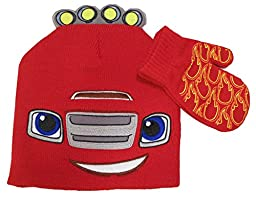 Disney Cars, Blaze and The Monster Machines Hat and Mittens Set [4012]