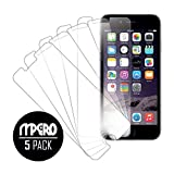 MPERO Collection (5-Pack) of Ultra Clear Screen Protectors for Apple iPhone 6 4.7""
