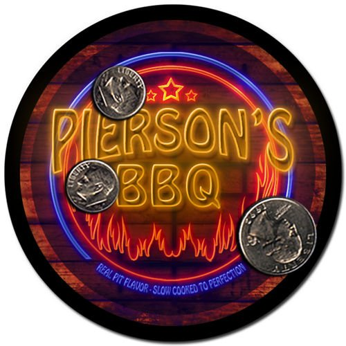 Pierson'S Barbeque Drink Coasters - 4 Pack