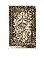 L'EDEN DEL TAPPETO Alfombra Kashmirian F/Seta Marrón/Beige/Gris 61 x 92 cm