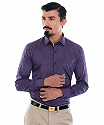 Helg Mens Formal Cotton Printed Full Sleeves Comfort Fit Shirt