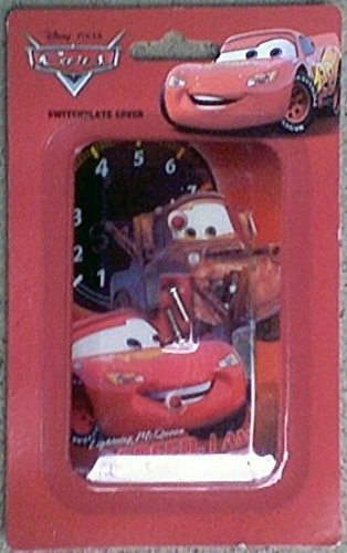Disney Pixar Cars Lighting McQueen Switchplate Cover - Kids Nursery Bedroom Playroom Decor Light Switch Plate - 1