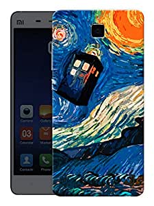 """Humor Gang Abstract Phone Booth Printed Designer Mobile Back Cover For """"Xiaomi Redmi Mi4"""" (3D, Matte, Premium Quality Snap On Case)"""