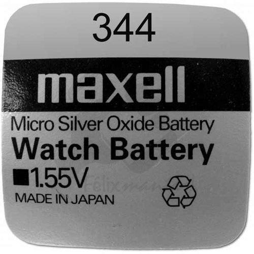 10 X PILE Maxell Batterie Originale 344 SR1136SW 1,55 V Boutons Pile Oxyde D'argent Maxell Livraison 48/72H Felixmania®