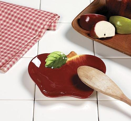 Apple Themed Spoon Rest Soap Dish Country Kitchen Home