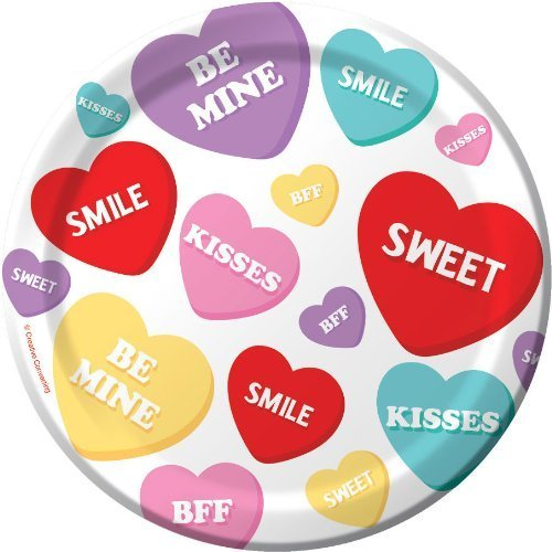 Candy Sweets Valentineu0027s Day Paper Plates 7-inch 8 Per Pack Candy Sweets Valentineu0027s Day Paper Plates 7-inch 8 Per Pack  sc 1 st  Valentineu0027s Day Wikii - Blogger & Valentines Day Party Paper Plates | Valentineu0027s Day Wikii