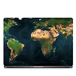 Inktree Vinyl Bluearth Matte Finish Adhesive Laptop Skin (15 inch x 10 inch, Mulicolor)