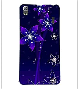 PrintDhaba Floral Pattern D-1237 Back Case Cover for LENOVO K3 NOTE (Multi-Coloured)