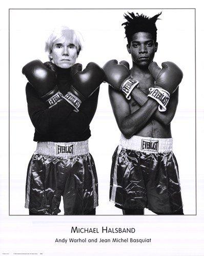 (24X30) Michael Halsband Andy Warhol And Jean Michel Basquiat Art Print Poster