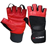 Kobo Fitness Gym Gloves Black/Red