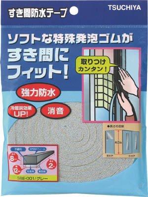 槌屋 すき間防水テープ グレー 10mm×15mm×2m