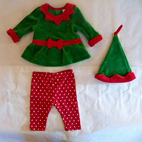 Cherokee Girls Elf Outfit with Hat