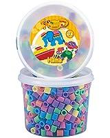 Hama - 8571 - Loisirs Créatifs  - Perles et Bijoux  - Pot De 600 Perles Pastel (Mix 50)