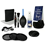 55mm Accessory Kit for Canon EOS 1100D 550D 600D - Sony Alpha 100 200 230 290 330 350 380 390 450 500 550 580 700 - Alpha 7 - Sony Alpha SLT-33 SLT-35 SLT-37 SLT-55V SLT-57 SLT-58 SLT-65V SLT-77V etc... incl. Fil