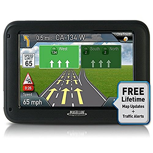 "Magellan RoadMate 5235T-LM 5"" Portable GPS Navigator w/ Lifetime Maps & Traffic"