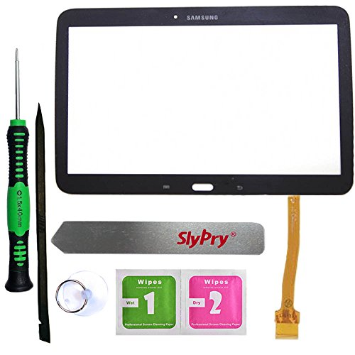 Prokit Adhesive® Samsung Galaxy Tab 3 10.1 P5200 P5210 Black Touch Screen Digitizer Panel Glass Replacement Part + PreInstalled Adhesive with SlyPry® tools kit (Samsung Tab 3 Repair Kit compare prices)