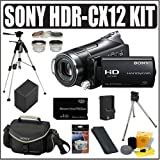 Sony HDR-CX12 High Definition Handycam Camcorder + Deluxe Accessory Kit