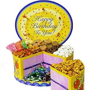 Art of Appreciation Gift Baskets   Happy Birthday Cake Shaped Box