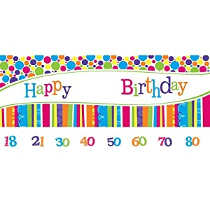 Creative Converting Bright and Bold Giant Party Banner with Customizable Age Stickers by Creative Converting