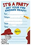 Firefighter Birthday Party Invitations  Fill In Style 20