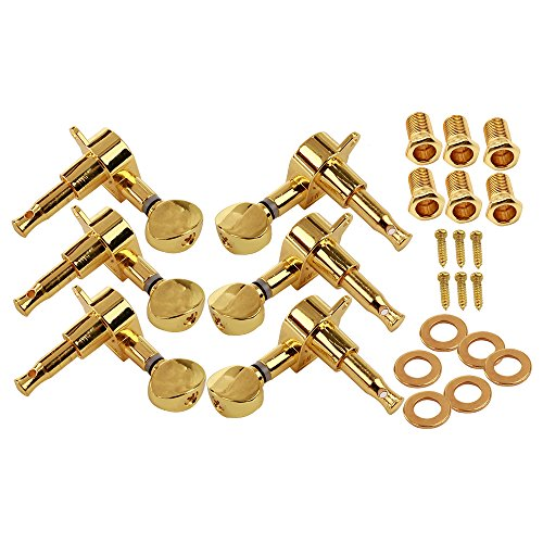 Beyond 3R3L 6 String Electric Guitar Tuning Pegs Machine Heads Tuners Keys Concave Button Gold (Electric Guitar Tuner Knobs compare prices)