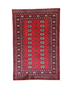 L'Eden del Tappeto Alfombra Kashmirian Rojo / Azul 134 x 201 cm