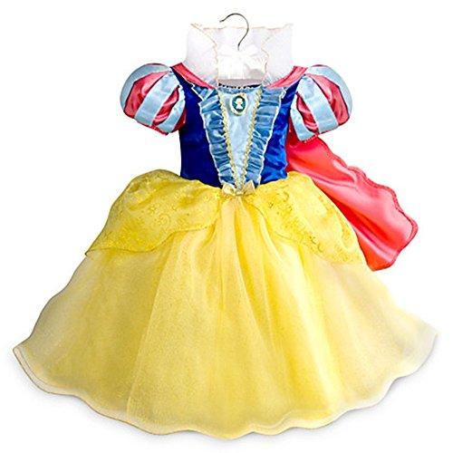 [Disney Store Little Girls Princess Snow White Costume Dress Multi 3T 4T (4T)] (Snow White Dress Costumes)