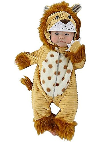 Princess Paradise Unisex Baby Safari Lion, Beige, 0/3 Months