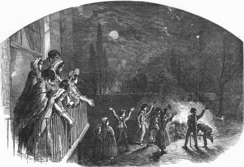 Fireworks on Guy Fawkes Day, 1851