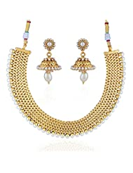 Accessher Rajwadi Styled Royal Copper Moti Antique Necklace - B00R94J5EC
