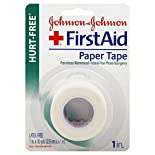 Johnson & Johnson First Aid Paper Tape, Hurt-Free, 1 tape